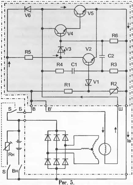 Принципиальная схема генераторной установки.  Uф1-Uф3